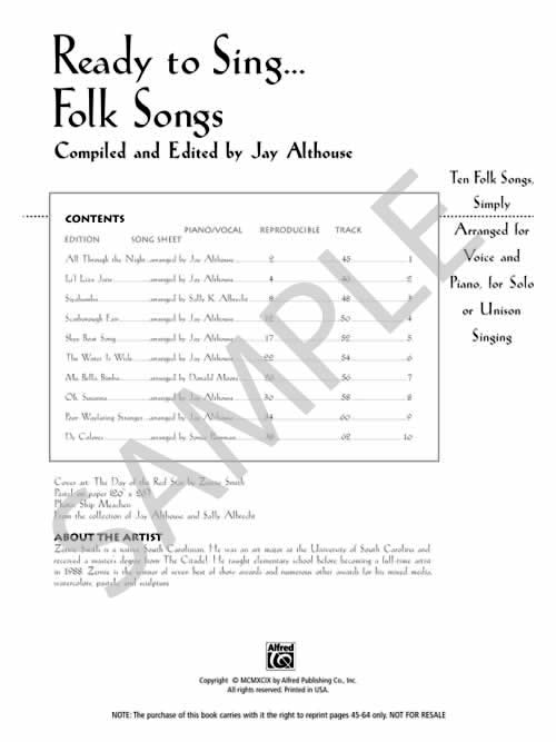 Images from Ready To Sing... Folk Songs
