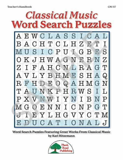 Images from Classical Music Word Search Puzzles