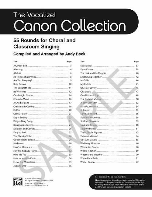 Images from Vocalize! Canon Collection, The