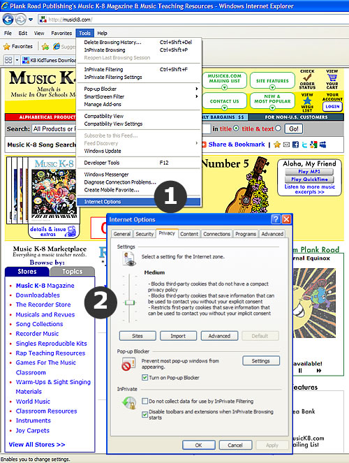 Cookies on MusicK8.com