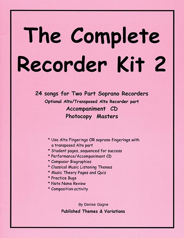 The Recorder Resource Kit, Vol. 2 - Student Book/CD