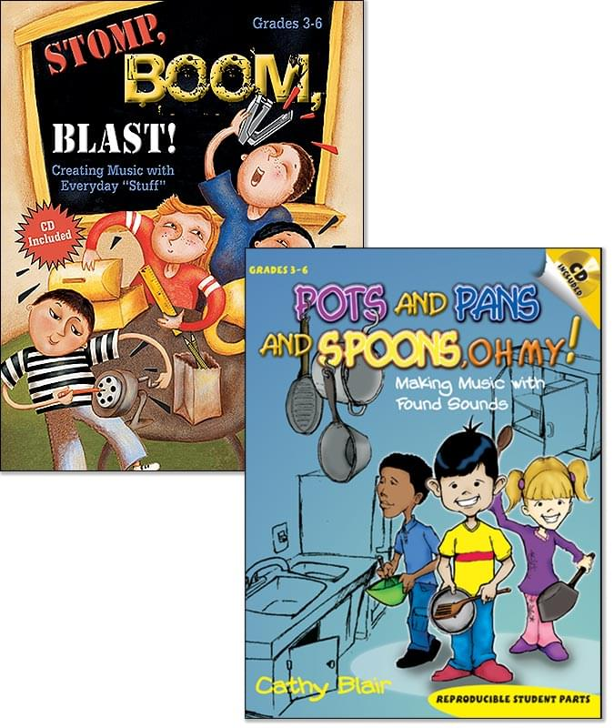 Both Pots, Pans, And Spoons, Oh My! & Stomp, Boom, Blast! - Bks/CDs
