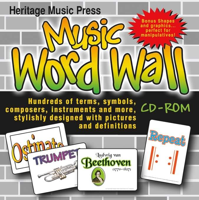 Music Word Wall - CD-ROM