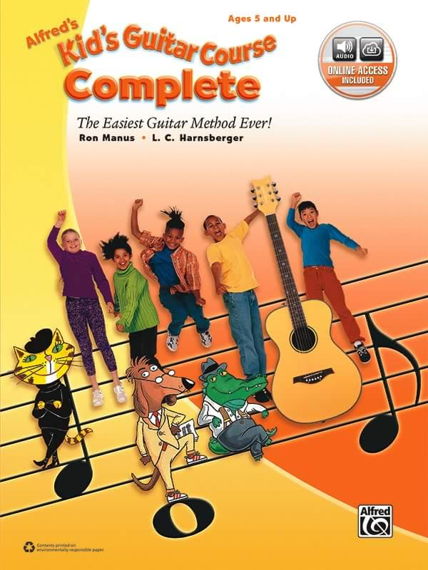 Kid's Guitar Course COMPLETE - Combined Books/Online Audio for 1 & 2