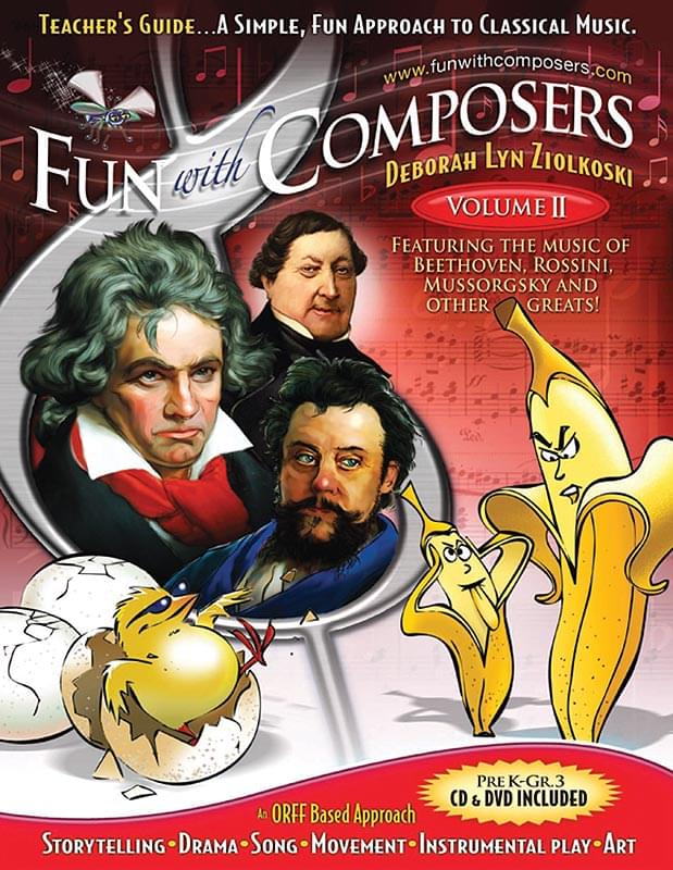 Fun With Composers - Volume 2 - Tchr's Guide - Book/Digital Access (Grades PreK-3)