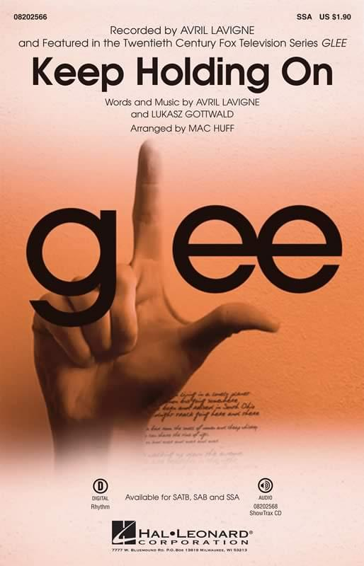 Keep Holding On - Glee/Avril Lavigne - SSA Choral (pack of 9)