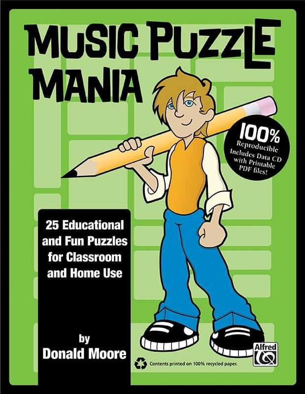 Music Puzzle Mania - Book/CD