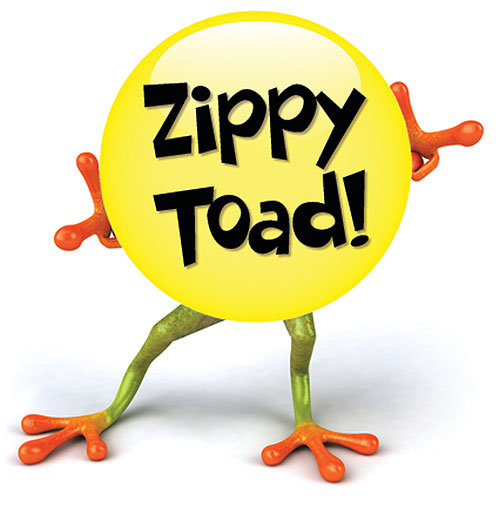 Zippy Toad In Waders Of The Lost Park