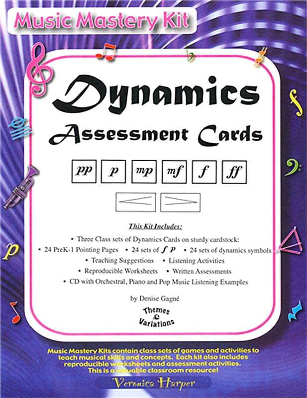 Dynamics Assessment Cards - Music Mastery Kit - Cards/CD