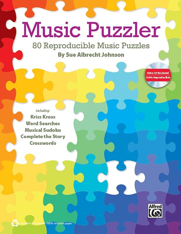 Alfred - Music Puzzler by Sue Albrecht Johnson - Book/CD-ROM