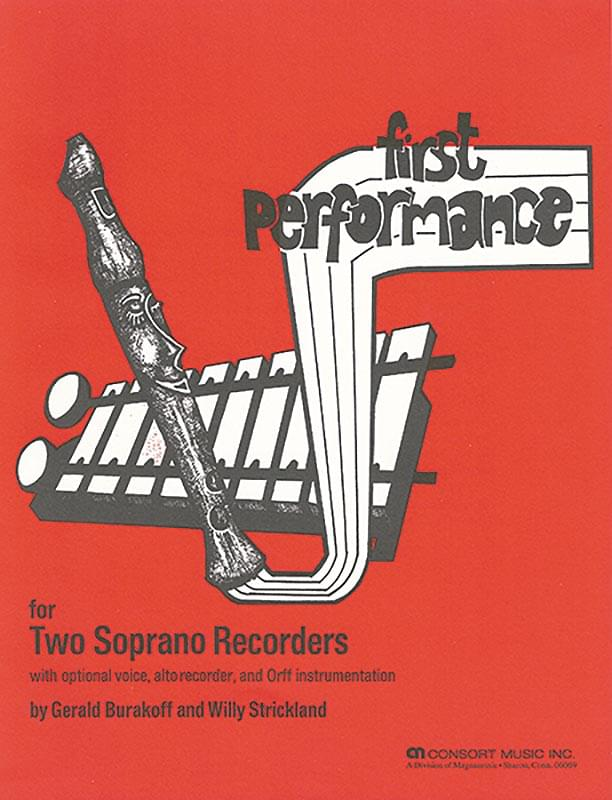 First Performance - Recorder Book