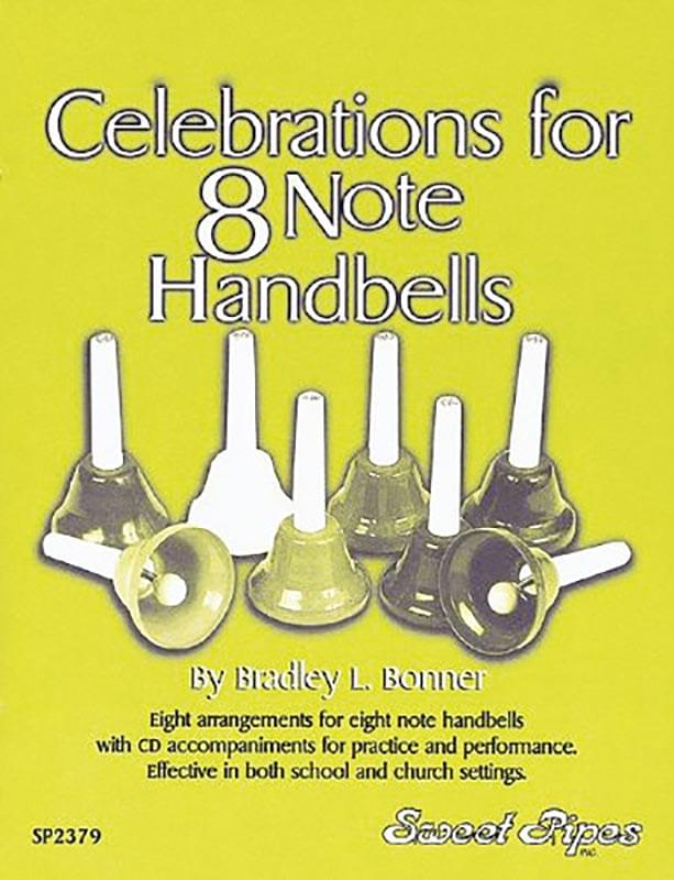 Celebrations For 8 Note Handbells - Book/CD