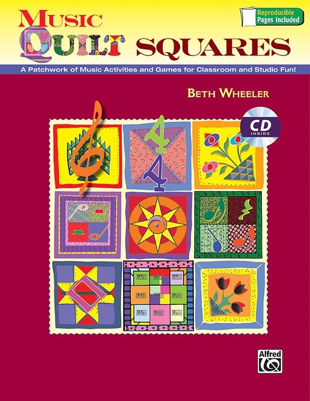 Music Quilt Squares - Book/Enhanced CD