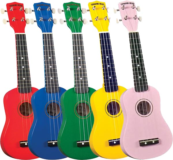 Diamond Head Ukulele - Red