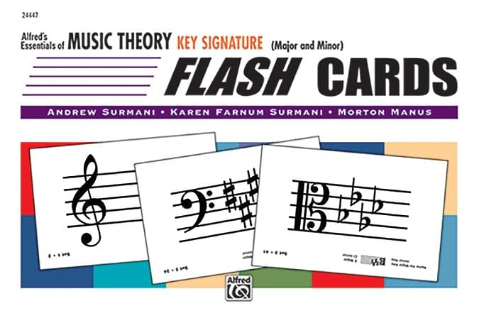 Key Signature Flash Cards - Alfred's Essentials Of Music Theory - Flash Card Set