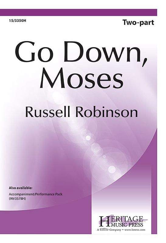 Go Down, Moses - 2-Part Choral (pack of 5)