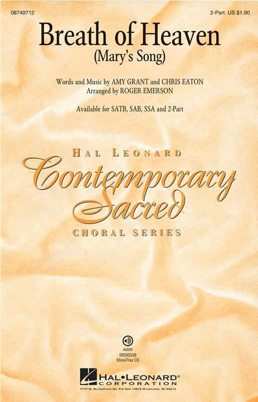 Breath Of Heaven (Mary's Song) - 2-Part Choral <strong>(pack of 7)</strong>