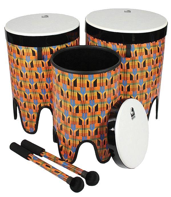 Nesting Tom-Tom Drums - Kente