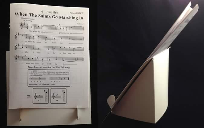 Cardboard Table Top Music Stand