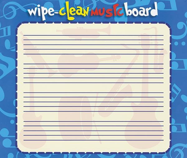 Wipe-Clean Music Board