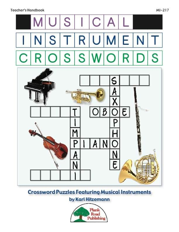 Musical Instrument Crosswords Vol. 1