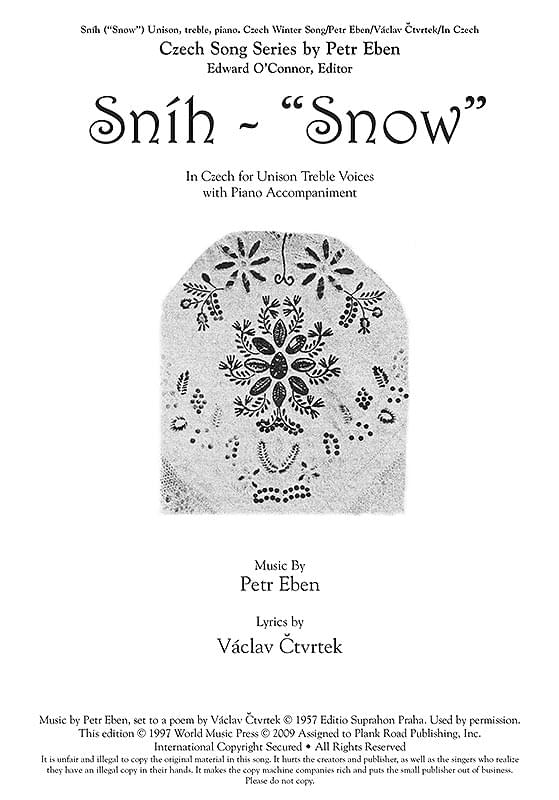 Sníh - Snow - Czech Winter Song