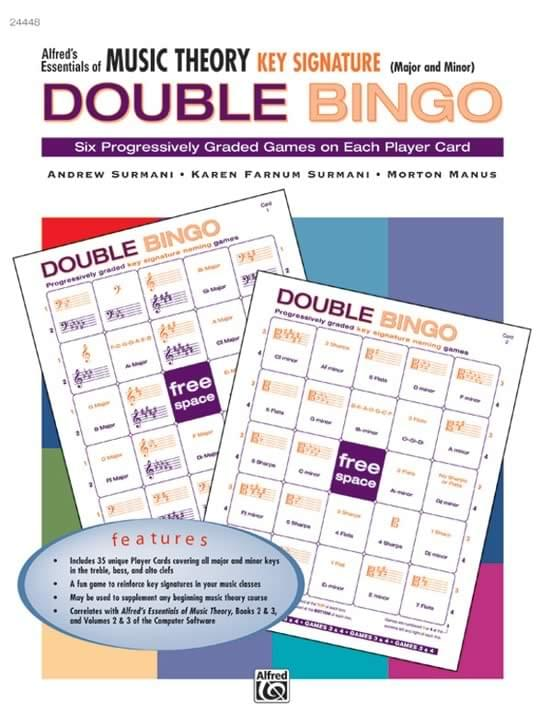 Key Signature Bingo - Alfred's Essentials Of Music Theory - Double Bingo Kit