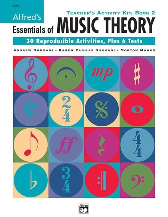 Book 2 - Alfred's Essentials Of Music Theory - Teacher's Activity Kit 2
