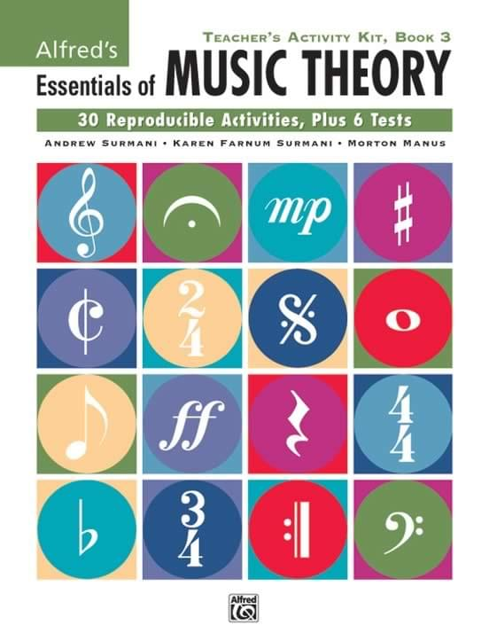 Book 3 - Alfred's Essentials Of Music Theory - Teacher's Activity Kit 3