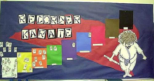 Classroom Interactive Ideas ~ Recorder karate dojo photo display