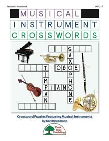 Musical Instrument Crosswords