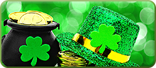 Button for St Patrick's Day products