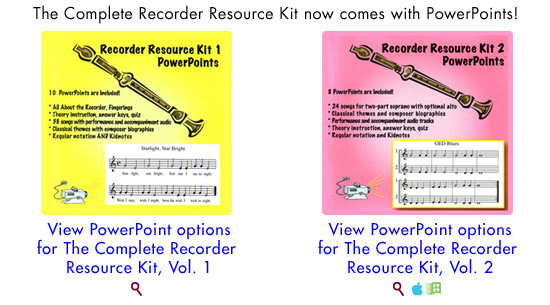 PowerPoints now available for Complete Recorder Resource Kits