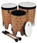 Nesting Tom-Tom Drums - Kente