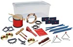 Adapted Rhythm Ed Set of 33 Instruments - Percussion, Container, Fun w/ Inst Bk & Baton