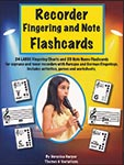 Recorder Fingering And Note Flashcards - Repro Worksheets Pack