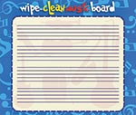 Wipe-Clean Music Board