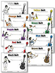 Ukulele Award Belt Certificates - Downloadable / Fillable Certificates