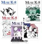 Music K-8 Vol. 1 Full Year (1990-91) - Downloadable  Back Volume - PDF Mags w/Audio Files & PDF Parts