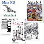 Music K-8 Vol. 6 Full Year (1995-96) - Downloadable  Back Volume - PDF Mags w/Audio Files & PDF Parts
